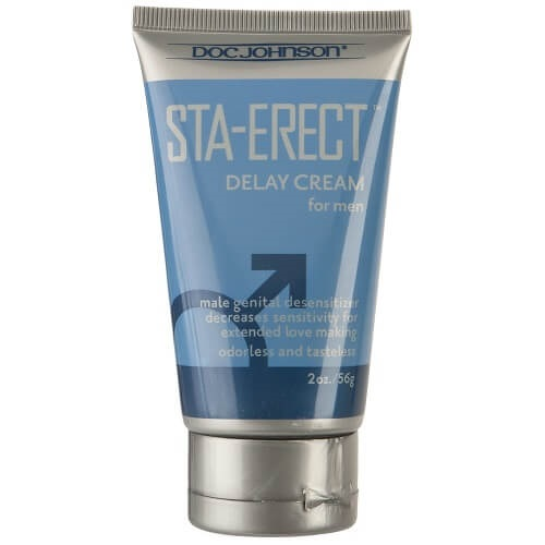 Crema retardante Sta-Erect de color azul