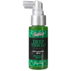 Spray oral sabor menta Good Head de color verde