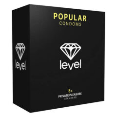 Preservativos Popular (5uds) de color negro